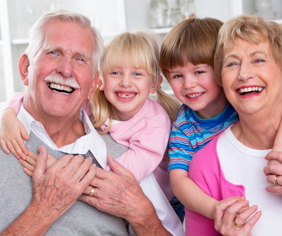 Spaß bei der Betreuung der Enkel