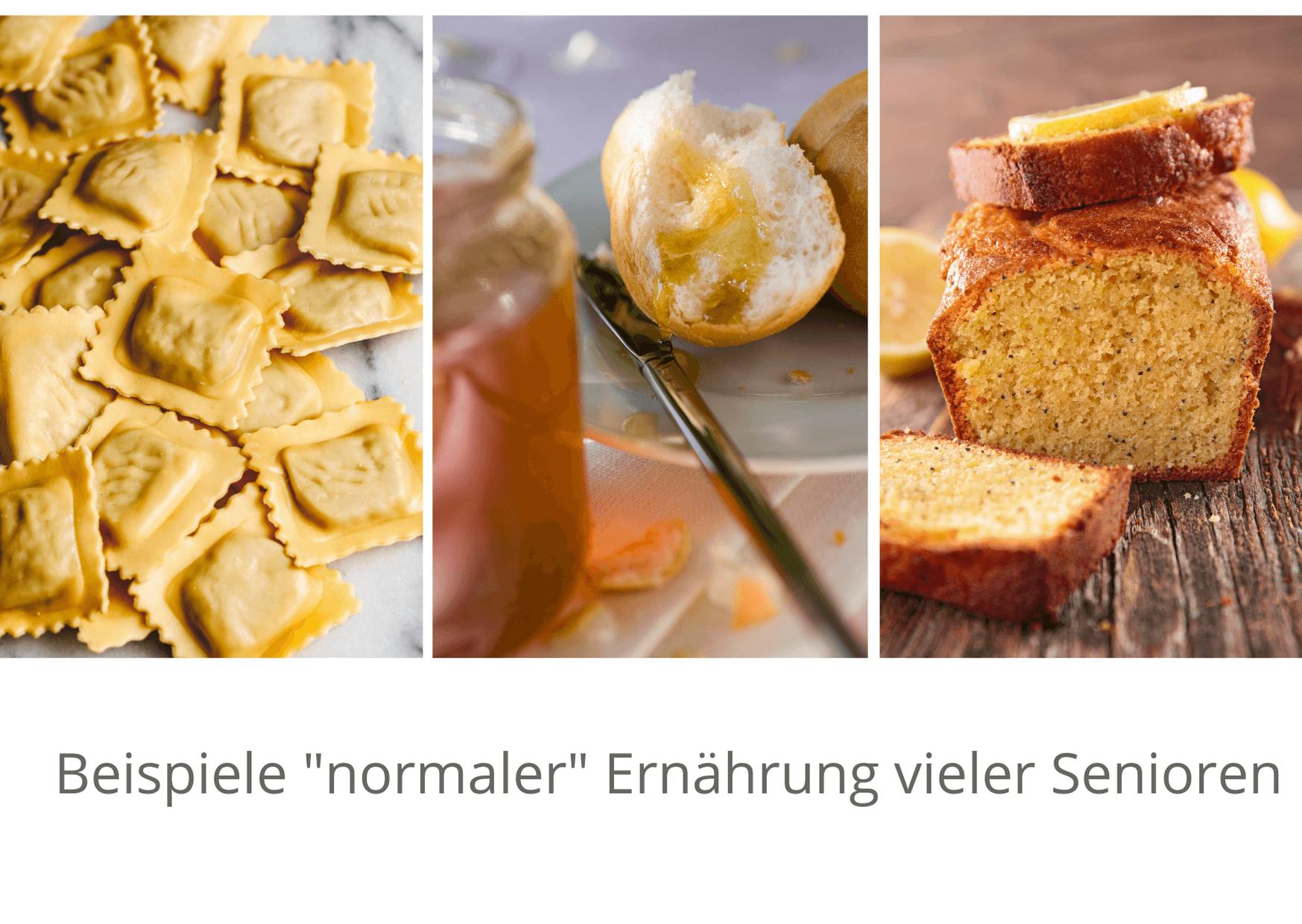 """Beispiele """"normaler"""" Ernährung vieler Senioren"""