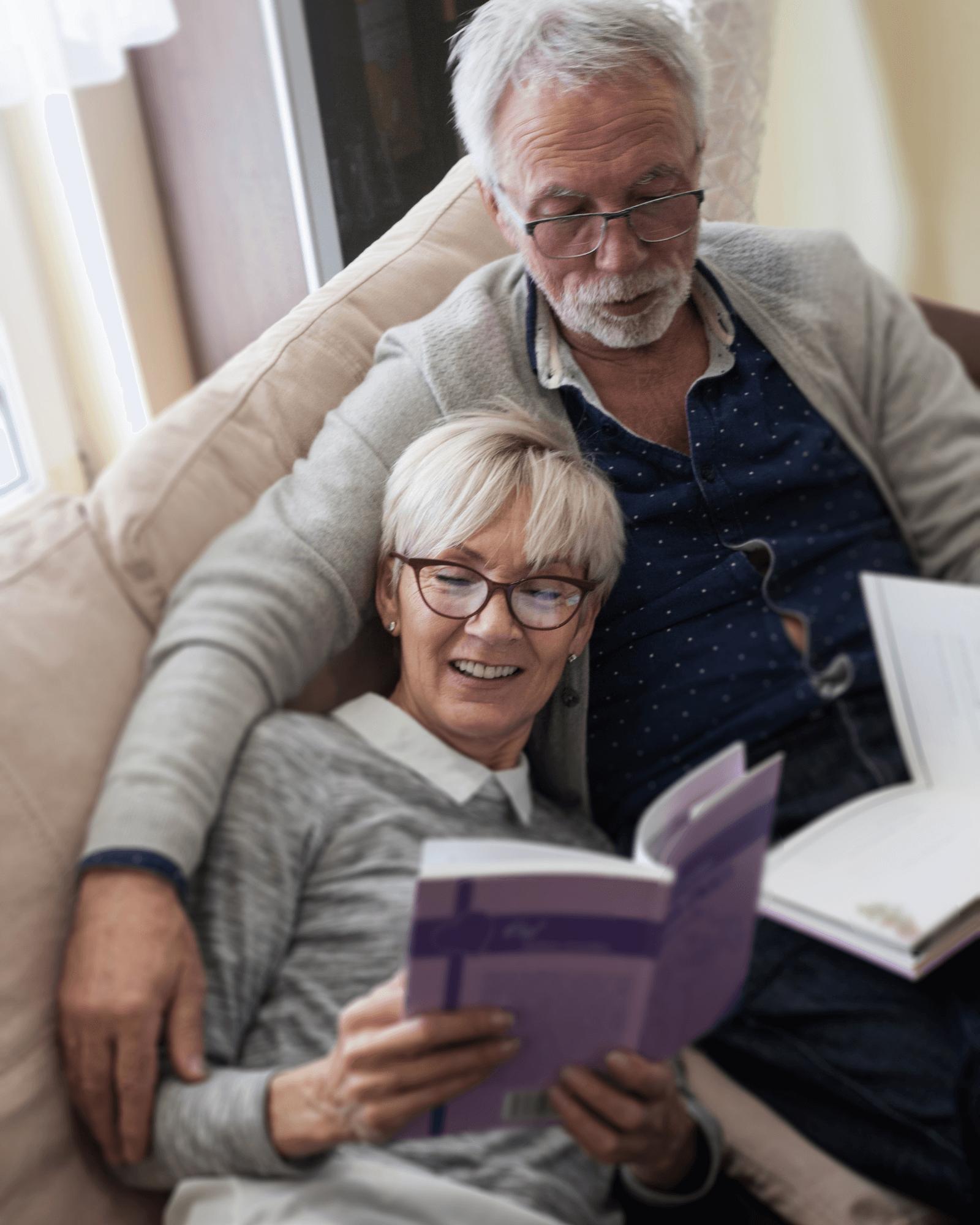 Senioren Lesen statt Fernsehen