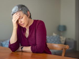 Depressive Frau Ü 50