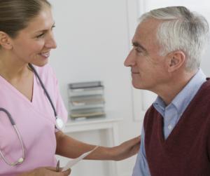 Aufklärungsgespräch beim Arzt